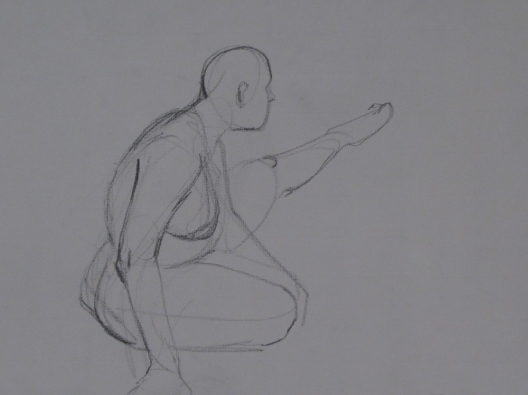 Figure with Left Leg Extended