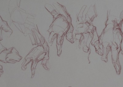 Copy after Bridgeman Hand Studies