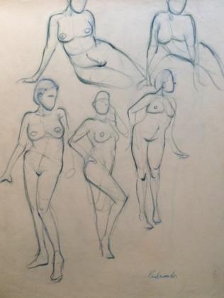Five Blue Nudes