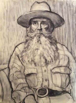 Man in a Flat Brimmed Hat