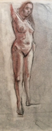 Standing Female Nude 3-18